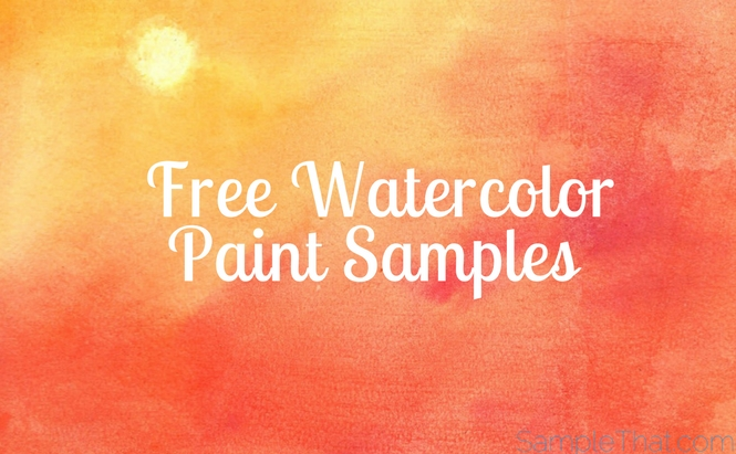 Free Watercolor Paint Samples