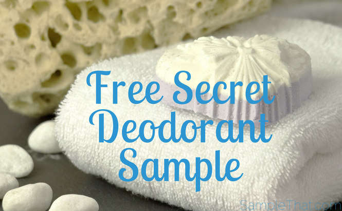 Free Secret Deodorant Sample