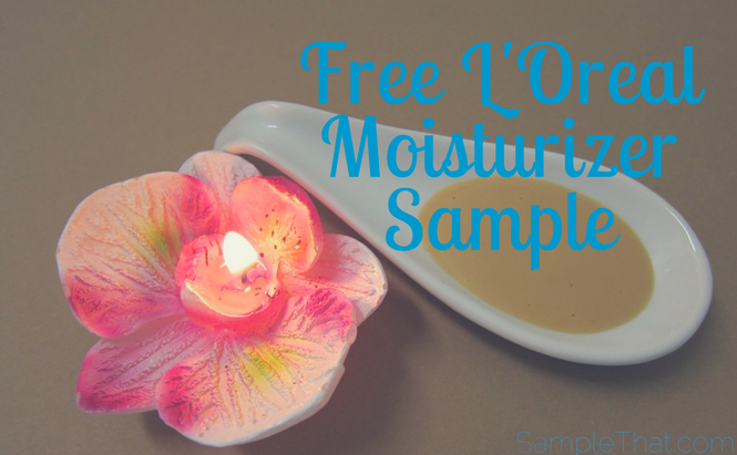 Free L'Oreal Moisturizer Sample