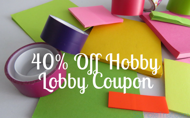 40% Off Hobby Lobby Coupon