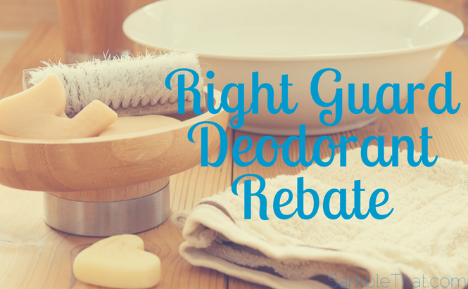 Right Guard Deodorant Rebate