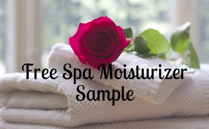 Free Spa Moisturizer Sample