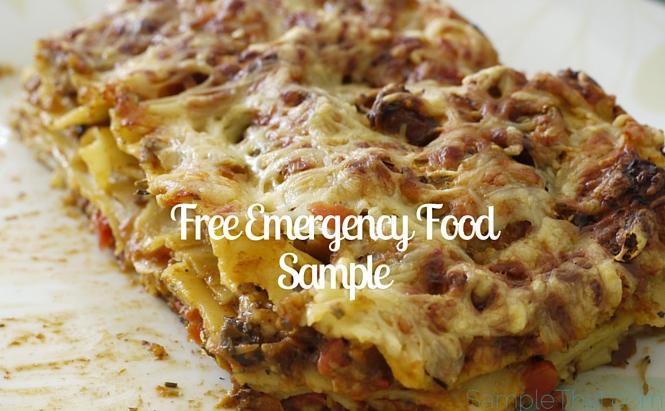 Free Emergency Food Sample