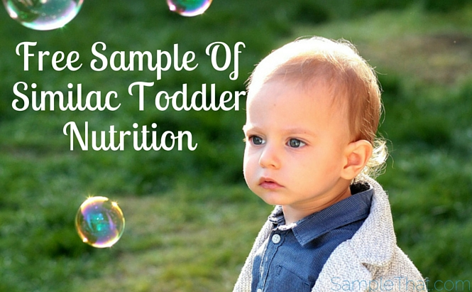Free Toddler Nutrition Samples From Similac