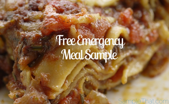 Free Emergency Meal Sample