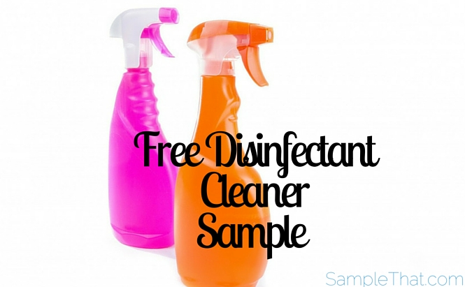 Free Disinfectant Cleaner Sample