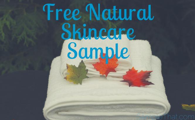 Free Natural Skincare Sample