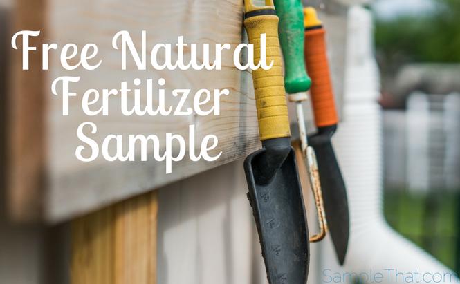Free Natural Fertilizer Sample