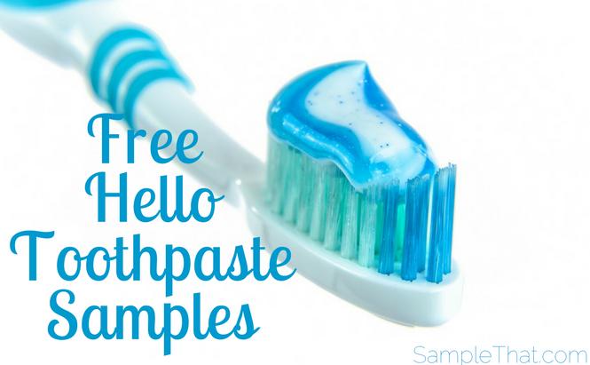 Free Hello Toothpaste Samples