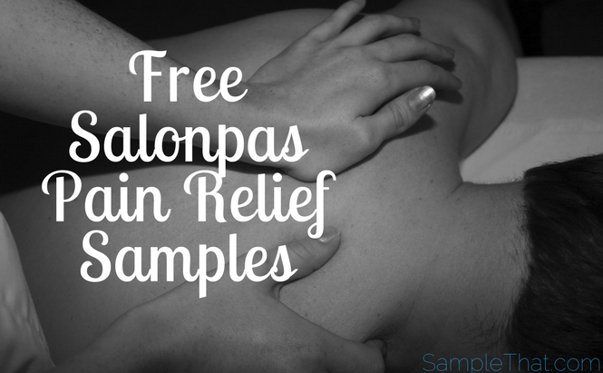 Free Salonpas Pain Relief Patch Samples