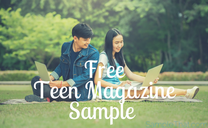 Free Teen Magazine Sample