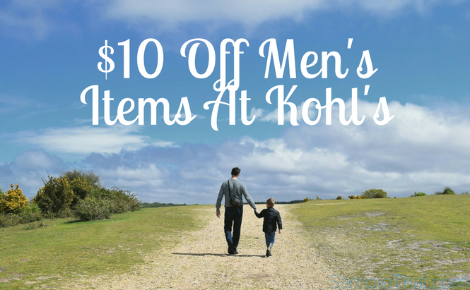 Coupon For $10 Off Men's Items At Kohl's