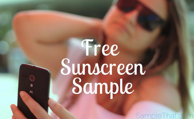 Free Sunscreen Sample
