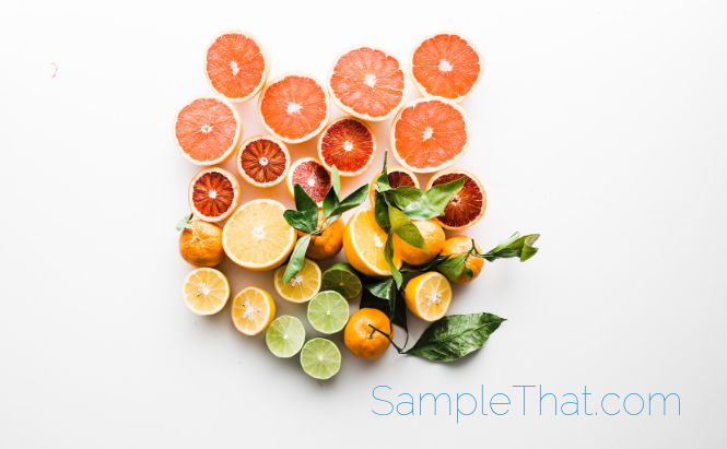 Citrus Facial Peel Samples